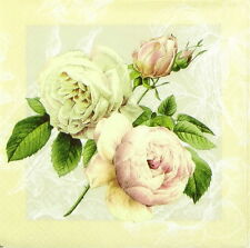 4x Paper Napkins for decoupage craft party - Cottage Roses