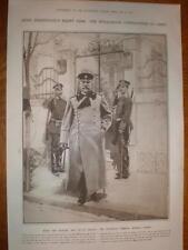 Bulgaria Army Commander General Savoff 1912 print