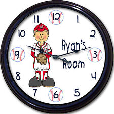 Washington Nationals Nats Personalized Wall Clock MLB Baseball Harper Custom 10""