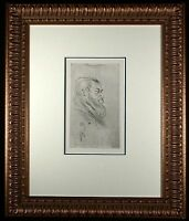 Portrait of Tristan Bernard Orig 1898 Etching by Toulouse-Lautrec Wittrock 240