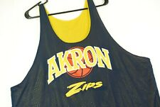 Vintage 90s Akron Zips Reversible Basketball Jersey Mens 2XL #51 Blue
