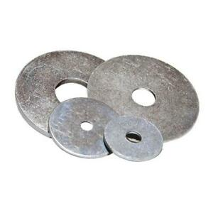 Penny Mudguard Repair Washer Steel Bright Zinc Plated M3 M4 M5 M6 M8 M10 M12