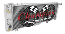 "2 Row Performance Champion Radiator W/ 2 10"" Fans for 1991 - 2001 Jeep Cherokee"