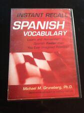 Instant Recall Spanish Vocabulary with Michael Gruneberg