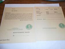 Montgomery Ward Credit Application  Postcard 1 cent postcard -new -Vintage