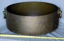 Massive copper cauldron boiler kettle engraved glyphs cuneiform 19th c ancient?