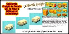 Sky Lights-Modern (3pcs-2ft x 4ft)  N/1:160 California Freight & Details Co. NEW