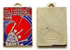 Medaglia Con Smalti CONI-Cus Roma-CUSI-Campionati Naz. Universitari Roma 1970