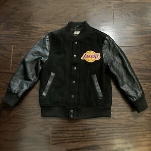 Vintage Los Angeles LA Lakers NBA Basketball Letterman Varsity Jacket Youth 7Y