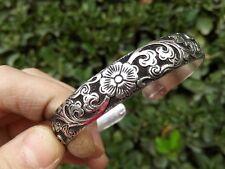 Wholesale style Hot Tibetan Tibet Silver Totem Bangle Cuff Bracelet