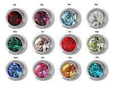 12 Pairs of Birthstone Surgical Stainless Steel RD3.0mm Piercing Stud Earrings