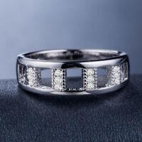 Elegant 925 Silver Rings for Women White Sapphire Wedding Ring Size 6-10