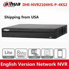 Dahua 4K NVR2104HS-P-4KS2 4CH 4POE H.265 1U Lite 8MP Network Video Recorder 6TB