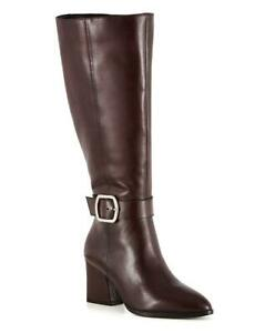 JD Williams Leather Boots With Buckle Detail Wide E Fit Curvy Calf Width - UK 6E