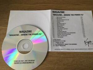 Promotional cd album- Magazine – Magazine... (Where The Power Is ): Compilation