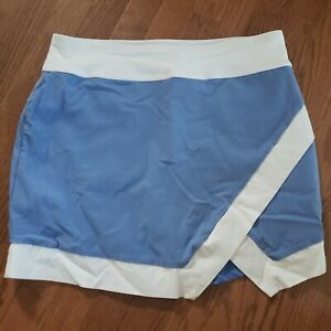 Jofit Size Large Blue & White Golf Athletic Stretch Skirt Skort