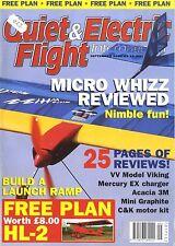 QUIET & ELECTRIC FLIGHT INTERNATIONAL MAGAZINE 2004 SEP HL-2 MONOPLANE FREE PLAN