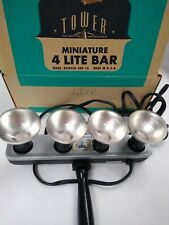 Vintage Tower Sears Roebuck And Co Photo Miniature 4 Lite Bar Tested & Works