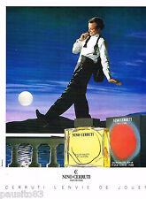 PUBLICITE ADVERTISING 065  1987  NINO CERRUTI  eau de toilette pour homme