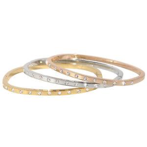 Pierre Cardin Schmuck Set 3 x Armreif Armspange Armband Silber Gold Rosegold