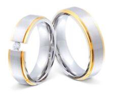 Anillos de joyería anillo de compromiso de acero inoxidable de boda