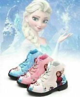 FROZEN Elsa Anna Children Girl's Winter Warm Snow Boots Waterproof Shoes