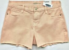 "Size 0, OLD NAVY Women's Boyfriend Cut-Off Hem 3"" Inseam Denim Pink Shorts NWT"