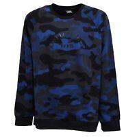 5436Z felpa uomo KARL LAGERFELD cotton blue/grey camouflage sweatshirt man