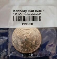 2001 D President Kennedy Half Dollar Fifty Cent Coin Uncirculated-60  U.S. Mint