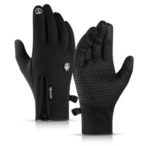 Winter Thermal Cycling Gloves Non-Slip Touch Screen Bike Bicycle Racing Mittens