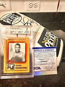 BGS 7 Psa 8-9? 1997 Brown's Boxing Floyd Mayweather Jr -ROOKIE RC #51 GOAT & 🥊!