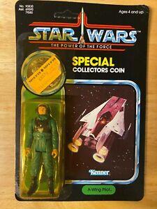 Vintage Star Wars POTF A-Wing Pilot Figure - 1984 Kenner 92-Back - Unopened MOC