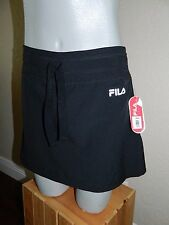 d042d91bc6b9 NWT Fila Sport Women Black Pleated Back Athletic Skort sz XS  36.00