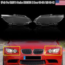 1pair Headlight Headlamp Lens Cover Shell For BMW E92 Coupe E93 Cabrio 2006-2009