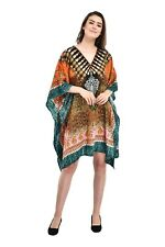 US Dress Short Kaftan Women Summer Mini Beachup Bikini Swimwear Casual Tunic Top