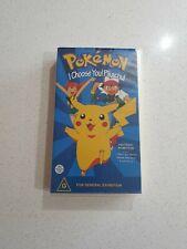 Pokemon - I Choose You PIkachu - Nintendo 64 N64 Promo PAL VHS Video ⭐OZ SELLER