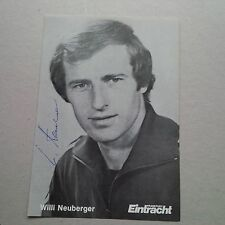 Willi Neuberger Concordia Francoforte STEMMA ORIGINALE SIGNED PHOTO 10x15