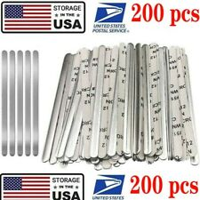 200pcs Aluminum Metal Strips Nose Bridge Wire for DIY Mask Bracket Sewing Crafts