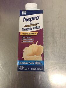Abbott Nepro Carb Steady Vanilla 8 oz resealable 24 pk case Exp: Dec. 2022