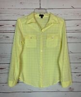 Fei Anthropologie Women's S Small Yellow Button Long Sleeve Spring Top Shirt