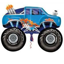 Blue Monster Truck Supershape Foil Balloon