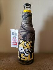 Licensed College Zippered Neoprene Bottle Koolie Lsu Camouflaged With Mike.