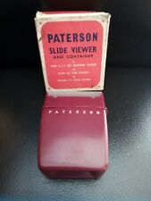 Paterson Slide Viewer And Container With Original Box