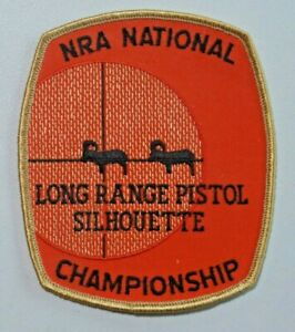 NRA National Championship Long Range Pistol Silhouette Patch Rifle Unused 7832