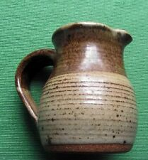 "Scottish Studio Moffat Pottery Brown Glazed Jug Pitcher 5"" Incised ""M"" Mark"