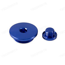 New Crankcase Cover Plug Blue for Yamaha YZ426F 00-02 YZ400F 98-99 YZ250F 01-13