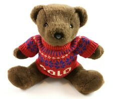Polo Ralph Lauren 2000 Stuffed Polo Bear Plush Holiday Snowflake Christmas