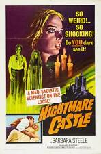 NIGHTMARE CASTLE Movie POSTER 27x40 Barbara Steele Paul Muller Helga Lin