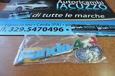 TARGHETTA POSTERIORE SCRITTA LOGO FIAT PANDA 4X4 FINO AL 2003 TRICOLORE