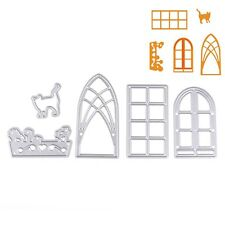 Door Window Set Metal Dies Cutting Stencil For Scrapbooking Paper Cards Decor